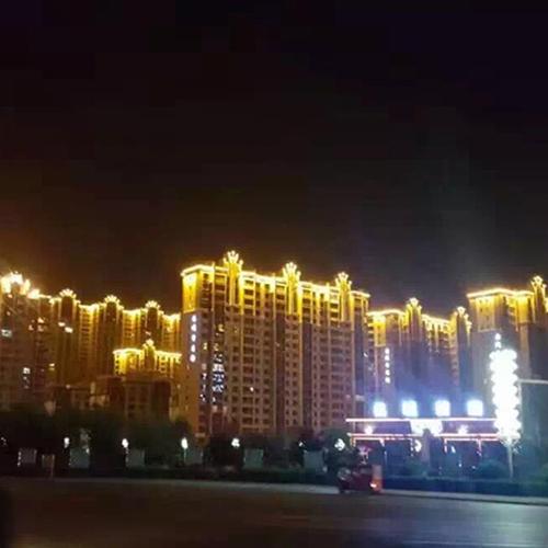 南京江边公寓亮化