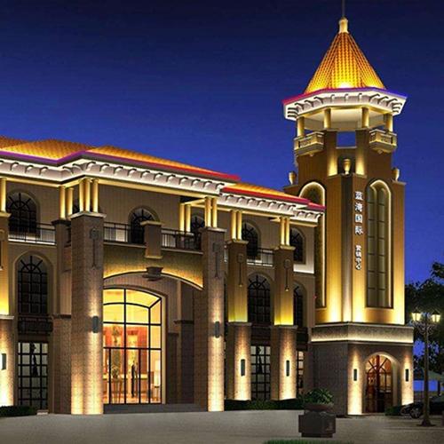 蓝湾国际酒店亮化