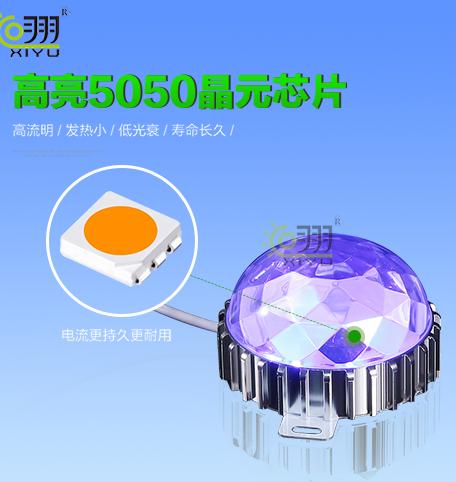 LED点光源车铝钻石罩