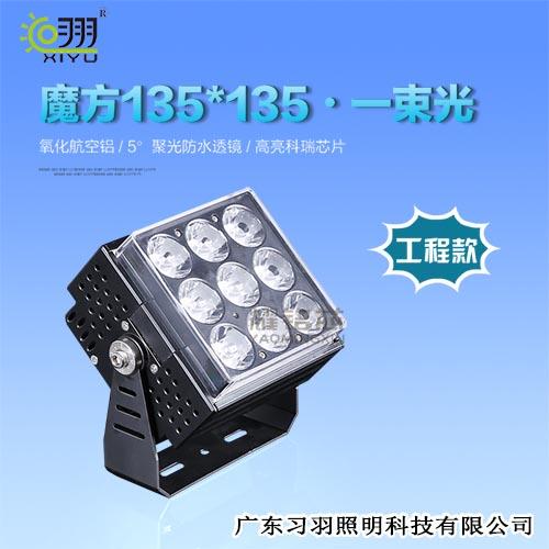 LED投光灯黑色魔方一束光