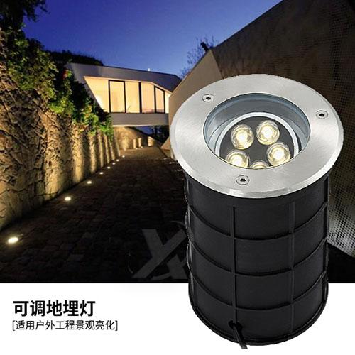 LED可调节地埋灯