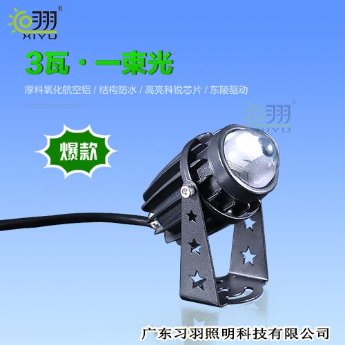陕西LED投光灯3W一束光