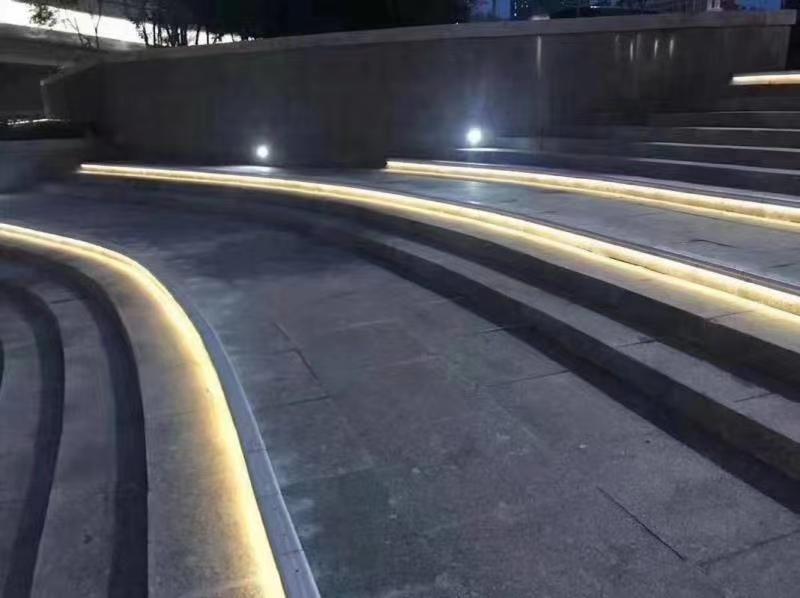公园阶梯亮化